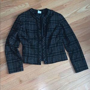 Studio Y Tweed Open Front Jacket
